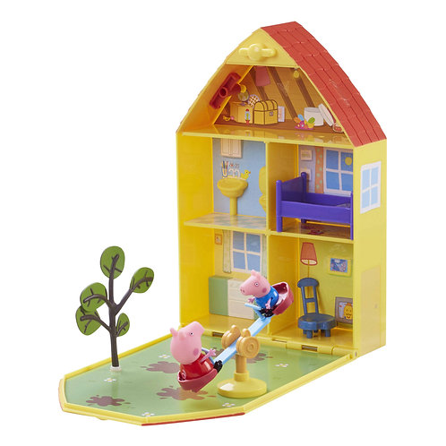 Front view of playset