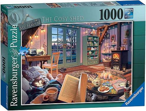 Ravensburger Puzzle My Haven No. 6 The Cozy Shed 1000 Piece Jigsaw for Adults