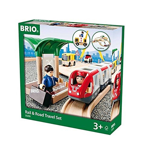 Brio 33209 Rail & Road Travel Set Wooden Railway