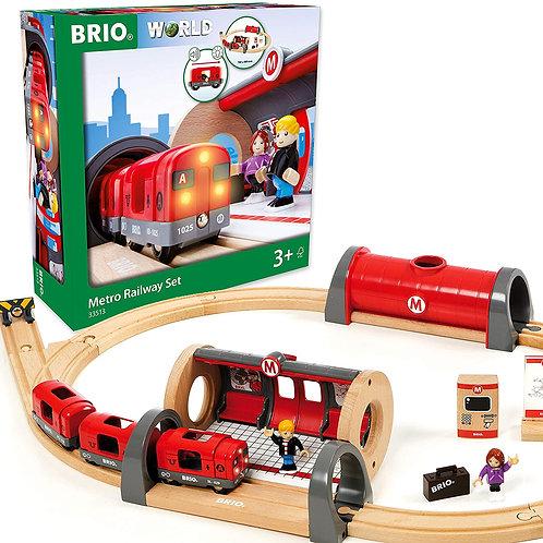 Train track set and box