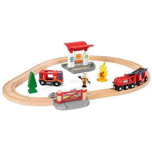 Brio World Firefighter Train Set