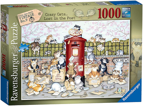 Ravensburger Jigsaw Crazy Cats Lost in the Post 1000 Piece Puzzle for Adults
