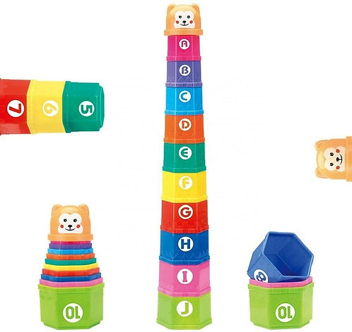 Stacking Cups Set of 10 with Shaker