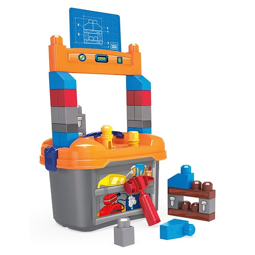 Fisher Price Mega Bloks Blocks Lil' Building Workbench Set