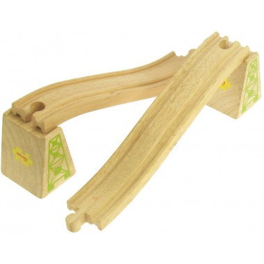 Bigjigs Wooden Train Ascender and Descender Track