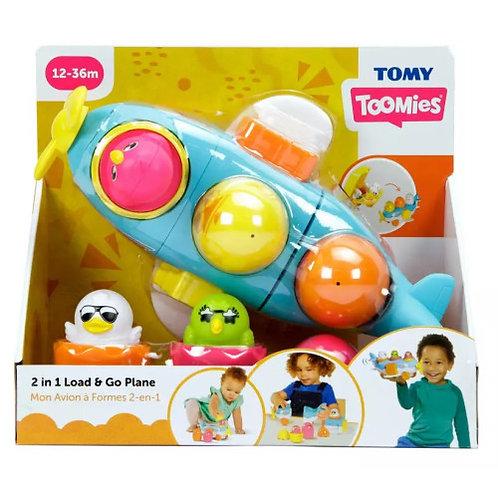 Tomy Toomies Hide & Squeak 2 in 1 Load & Go Plane