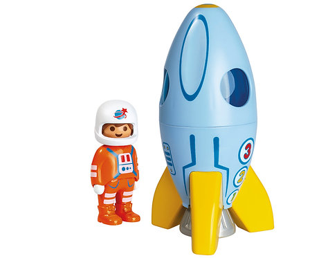 Rocket and Figure Front View