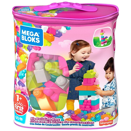 Fisher Price Mega Blocks Bloks First Builders Big Building Bag Pink