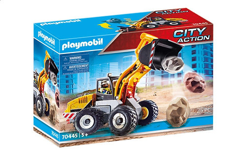 Playmobil 70445 City Action Front Loader Wheel Movable Bucket