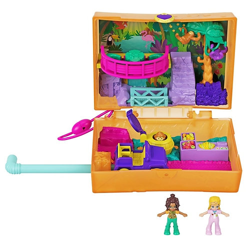 Polly Pocket World Jungle Safari Juice Box Playset