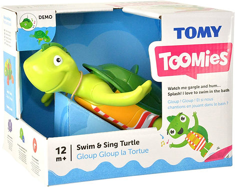 Tomy Toomies Swim and& Sing Turtle baby bath toy music