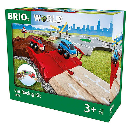 Brio World 33819 Car Racing Kit Wooden Train