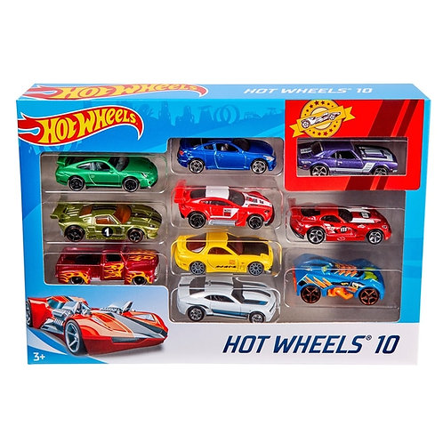 Hot Wheels Assorted Cars Set of 10 Gift Pack