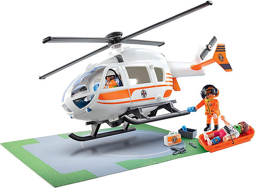 Playmobil 70048 City Life Rescue Helicopter Emergency Ambulance