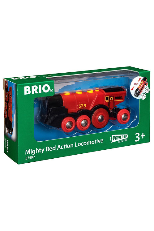 Brio Mighty Red Action Locomotive Train 33592 Battery Powered Motorised