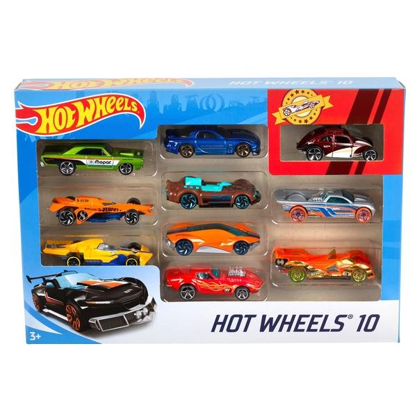 hot wheels basic 10 car gift pack