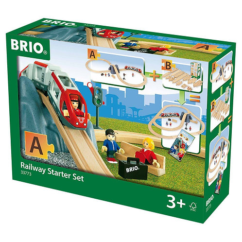 Brio World 33773 Wooden Railway Starter Set A Train Track
