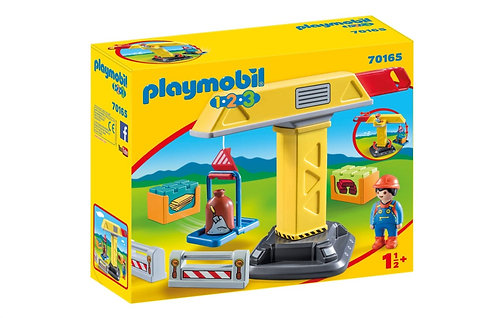 Playmobil 1.2.3 70165 Construction Crane Toddler