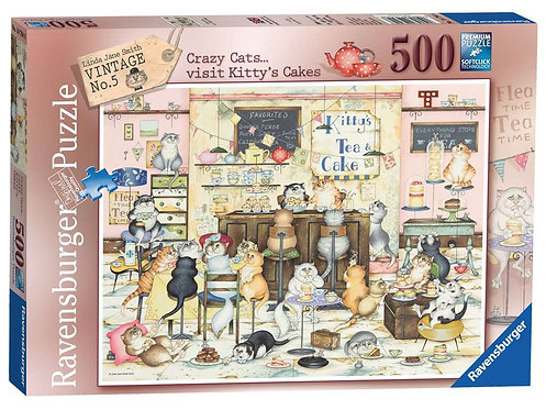 Crazy Cats... Visit Kitty's Cakes Jigsaw Puzzle - 500 Piece