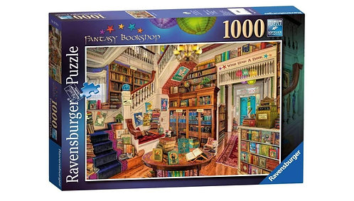 Ravensburger Jigsaw The Fantasy Bookshop 1000 Piece Puzzle for Adults