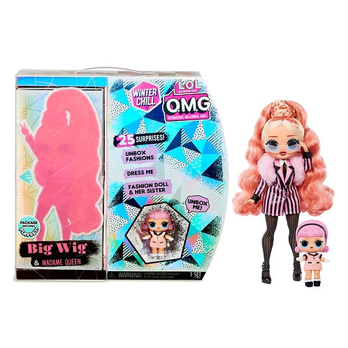 L.O.L. LOL Surprise! OMG O.M.G. Winter Chill Big Wig & Madame Queen Doll with 25 Surprises