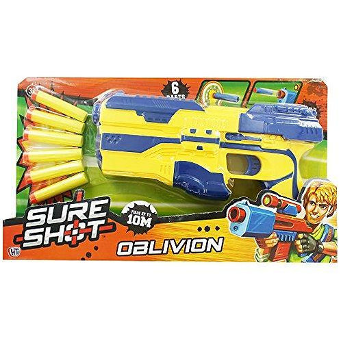 Sure Shot Oblivion Blaster with 6 Foam Darts in Yellow