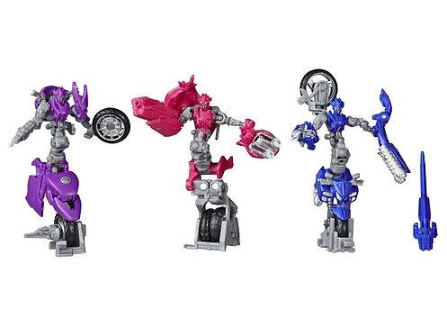 Transformers Toys Studio Series 52 Deluxe Revenge of The Fallen Movie Arcee Chromia Elita-1 Action Figure 3 Pack