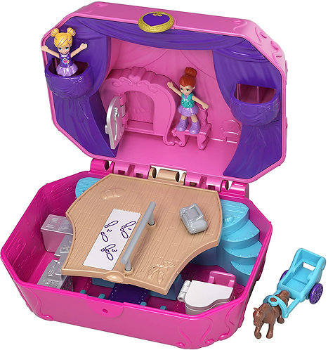 Polly Pocket World Tiny Twirlin' Music Box Compact Playset