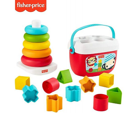 Fisher Price Baby's First Blocks &and Rock-a-Stack Stacking Rings Toy