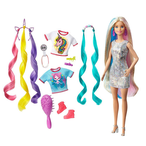 Barbie Fantasy Hair Doll Unicorn Mermaid toy