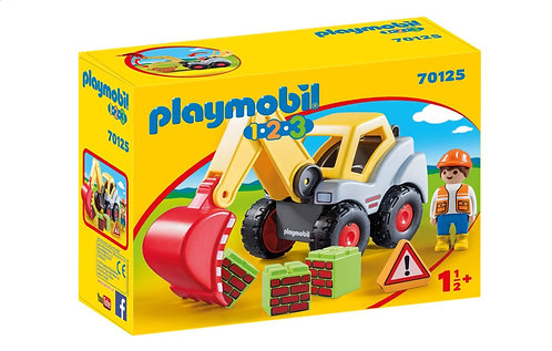 Playmobil 1.2.3 70125 Shovel Excavator Toddler Digger Toy