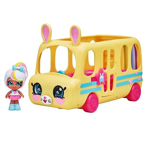Kindi Kids Minis School Bus Marsha Mello Marshamellow Doll Figure