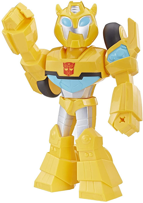 Playskool Heroes Transformers Rescue Bots Academy Mega Mighties Bumblebee Collectible 10-Inch Robot Action Figure