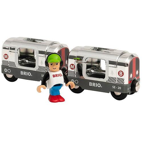 Brio World 33838 - Special Edition 2020 Silver Metro Train
