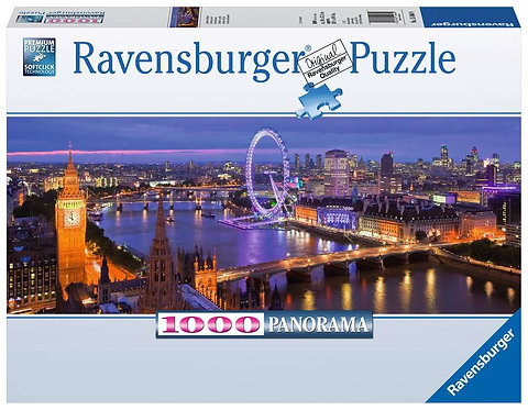 Ravensburger Puzzle Adult Jigsaw London at Night 1000pc Piece Panoramic