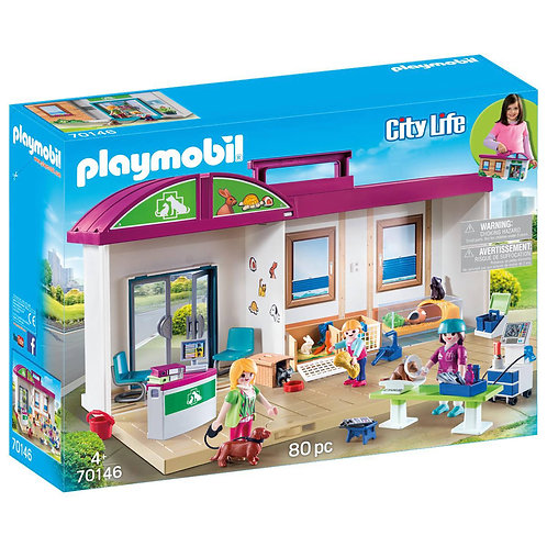 Playmobil 70146 City Life Take Along Vet Clinic