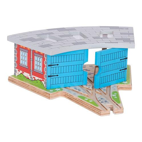 Triple Engine Shed - Bigjigs Wooden Toys