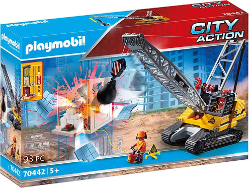 Playmobil 70442 City Action Demolition Crane Playset