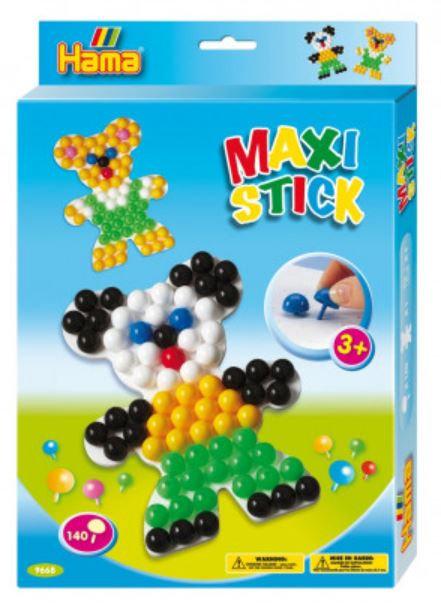Hama Maxi Stick Teddy Bear Pegboard - 140 Pegs