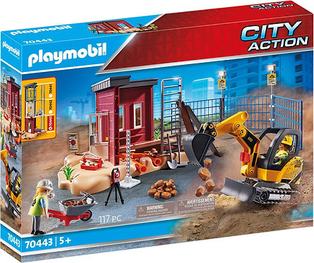 Playmobil 70443 City Action Small Excavator Playset