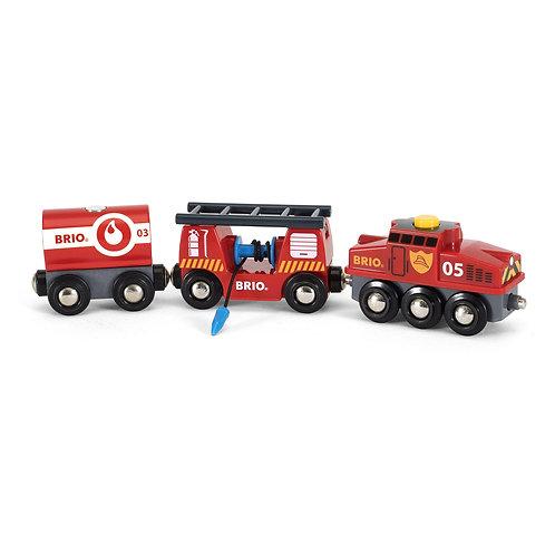 Brio World Wooden Rescue Firefighting Train 33844