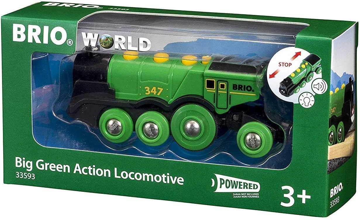 Brio Big Green Action Locomotive wooden