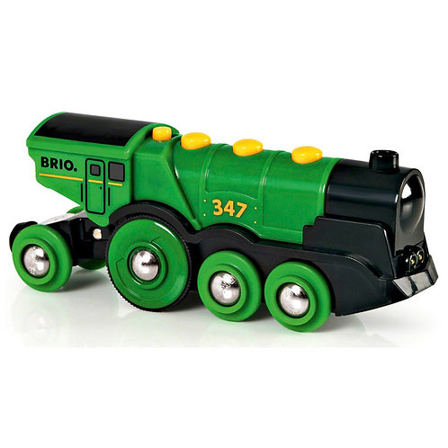 Brio Big Green Action Locomotive 33593 Wooden Railway Train