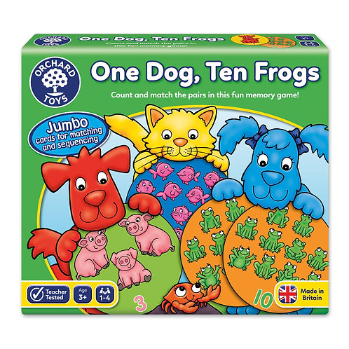 Orchard Toys - One Dog Ten Frogs