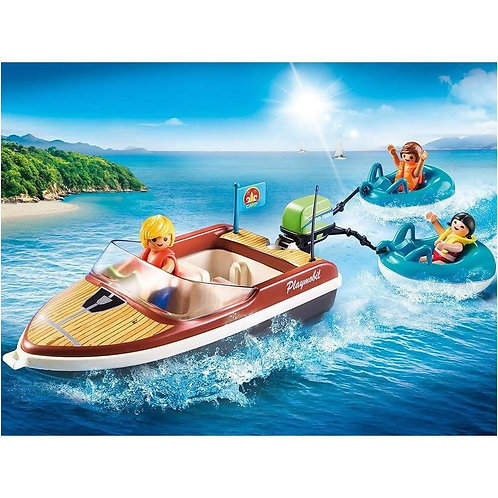 Playmobil 70091 Family Fun Speedboat with Tube Riders