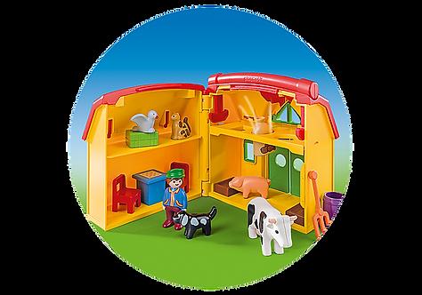 Playmobil 6962 1.2.3 My Take Along Farm Playset