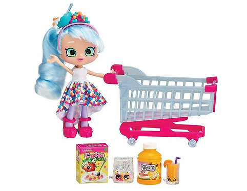 Shopkins Real Littles Chrissy Puffs + Shoppin' Cart Playset Toy