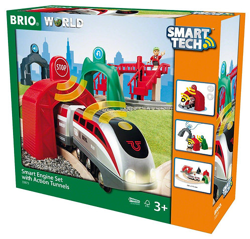 BRIO Smart Tech - Engine Set with Action Tunnels 33873