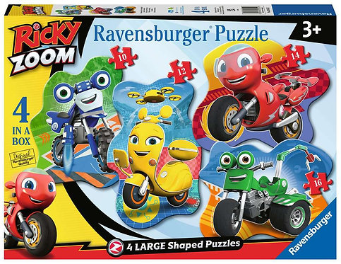Ricky Zoom - 4 Large Shaped Puzzles