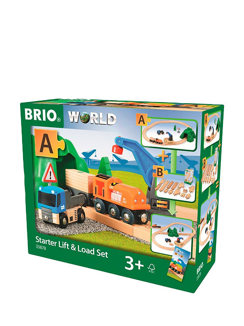 Brio World Wooden Starter Lift and Load Set Railway